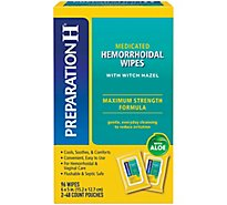 Preparation H Flushable Medicated Hemorrhoidal Wipes Pouch Maximum Strength Relief - 96 Count