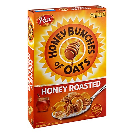 Honey Bunches of Oats Cereal Crunchy Honey Roasted - 18 Oz