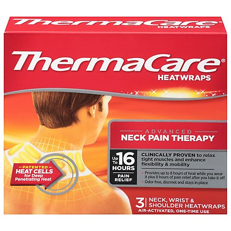 ThermaCare Heatwraps Neck Wrist & Shoulder Advanced Neck Pain Therapy - 3 Count