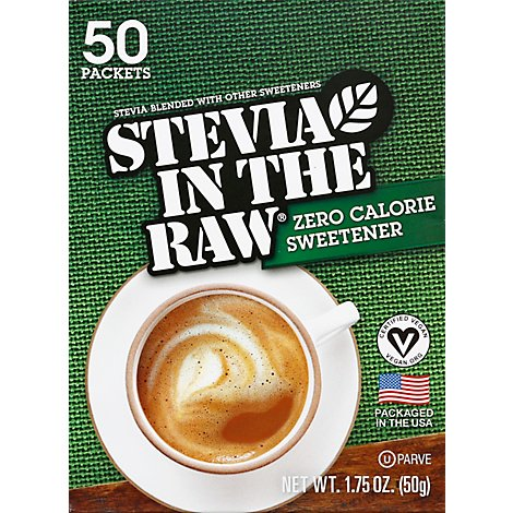 Stevia In The Raw Sweetener Zero Calorie Packets - 50 Count