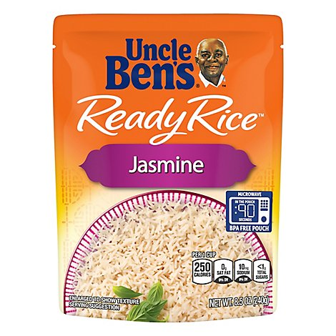 Uncle Bens Ready Rice Pouch Jasmine - 8.5 Oz