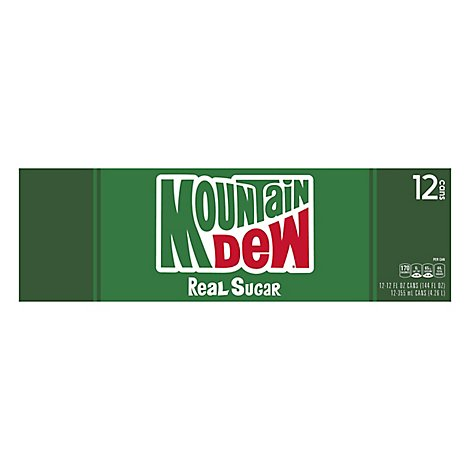 Mtn Dew Soda Yahooo! Throwback Real Sugar Real Good - 12-12 Fl. Oz.
