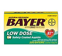 Bayer Aspirin Tablets 81mg Low Dose Enteric Coated - 200 Count
