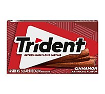 Trident Gum Sugarfree with Xylitol Cinnamon - 18 Count