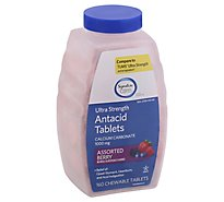 Signature Care Antacid Relief Ultra Strength Assorted Berry Chewable Tablet - 160 Count