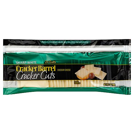 Cracker Barrel Cheese Cracker Cuts Vermont Cheddar - 7 Oz