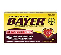 Bayer Aspirin Tablets 325mg Coated - 100 Count