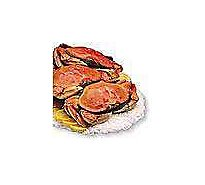 Seafood Counter Crab Dungeness Whole Cooked Previously Frozen Service Case - 2.25 LB