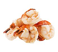Seafood Counter Shrimp Cooked Colossal 16-20 T-On Previously Frozen Service Case - 0.75 LB