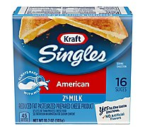 Kraft Singles Cheese Product Pasteurized Prepared Slices American Reduced Fat - 16 Count