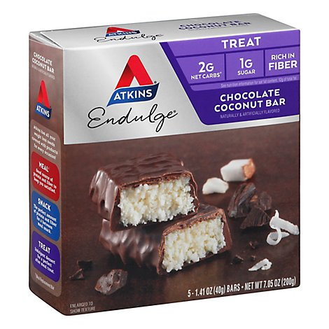 Atkins Endulge Bar Chocolate Coconut - 5-1.4 Oz