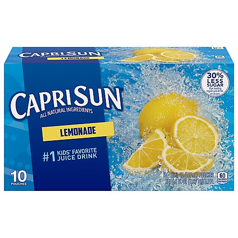 Capri Sun Juice Drink Blend Lemonade - 10-6 Fl. Oz.