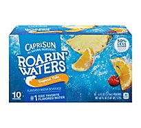 Capri Sun Roarin Waters Flavored Water Beverage Tropical Tide - 10-6 Fl. Oz.