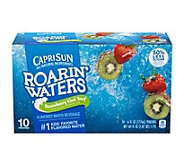 Capri Sun Roarin Waters Flavored Water Beverage Strawberry Kiwi - 10-6 Fl. Oz.