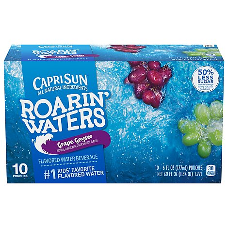 Capri Sun Roarin Waters Flavored Water Beverage Grape - 10-6 Fl. Oz.
