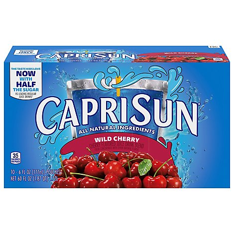 Capri Sun Juice Drink Blend Wild Cherry - 4-60 Fl. Oz.