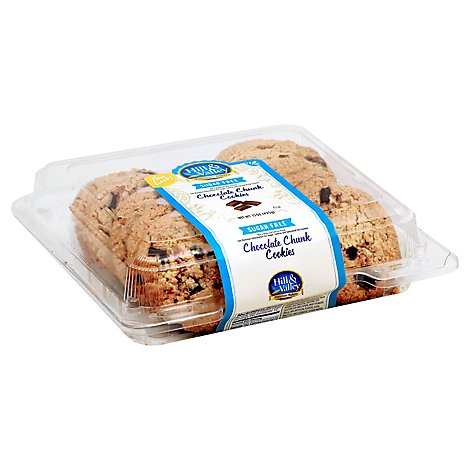 Hill & Valley Cookies Chocolate Chip Sugar Free - Each