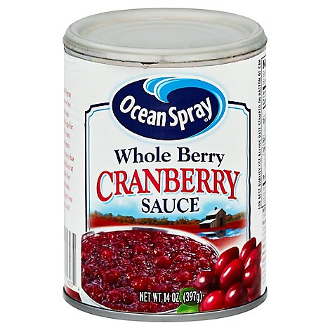 Ocean Spray Sauce Whole Berry Cranberry - 14 Oz