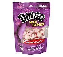 Dingo Dog Snacks Bones Mini with Real Chicken Poich 21 Count - 7.2 Oz