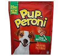 Pup-Peroni Dog Snacks Lean Beef Flavor Pouch - 25 Oz