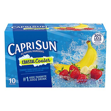 Capri Sun Juice Drink Blend Strawberry Banana Coastal Cooler - 10-6 Fl. Oz.