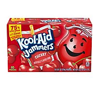 Kool-Aid Jammers Flavored Drink Pouch Cherry - 10-6 Fl. Oz.