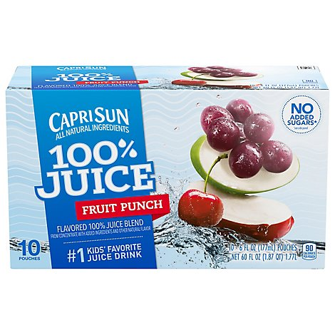 Capri Sun 100% Juice Fruit Drive - 10-6 Fl. Oz.