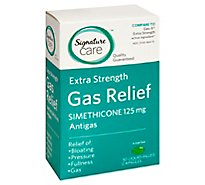 Signature Care Gas Relief Extra Strength Simethicone 125mg Liquid Capsule - 50 Count