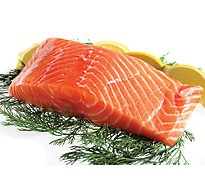 Seafood Counter Fish Salmon Sockeye Fillet Frozen Service Case - 1.00 LB