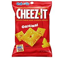 Cheez-It Baked Snack Cheese Crackers Original Single Serve Grab N Go - 3 Oz