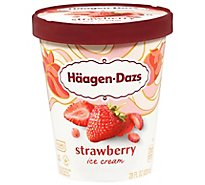 Haagen-Dazs Ice Cream Strawberry - 28 Fl. Oz.