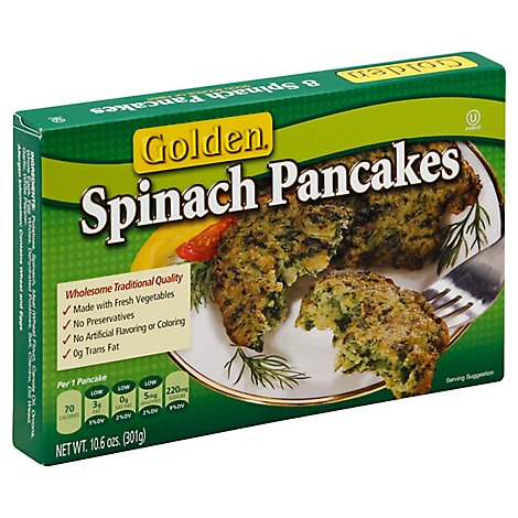 Golden Pancakes Spinach 8 Count - 10.6 Oz