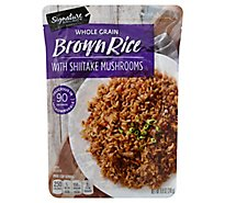 Signature SELECT Rice Brown Asian Inspired with Shiitake Mushrooms Pouch - 8.8 Oz