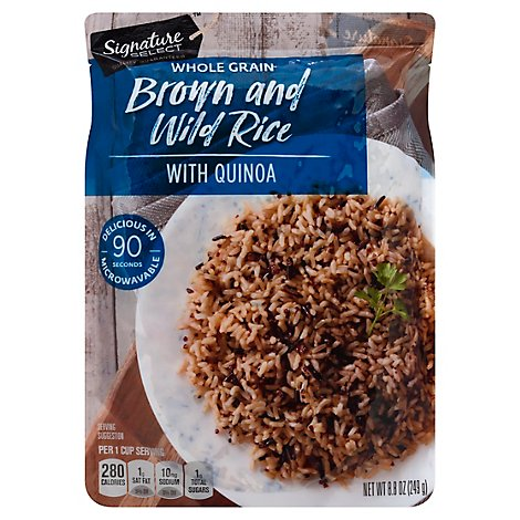 Signature SELECT Rice Brown & Wild with Quinoa Pouch - 8.8 Oz