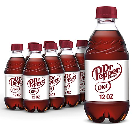 Diet Dr Pepper Soda 12 fl oz bottles 8 pack