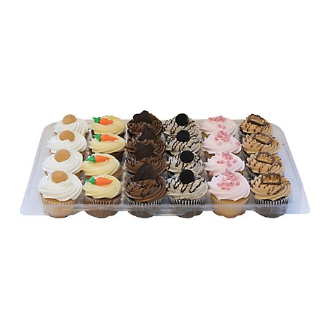Bakery Cupcake Party Pack Variety 24 Count - Each