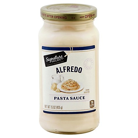 Signature SELECT Pasta Sauce Alfredo Jar - 15 Oz