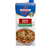 Swanson Broth Beef 50% Less Sodium - 32 Oz