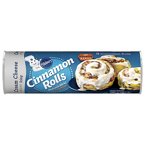 Pillsbury Cinnamon Rolls With Cream Cheese Icing 8 Count - 12.4 Oz