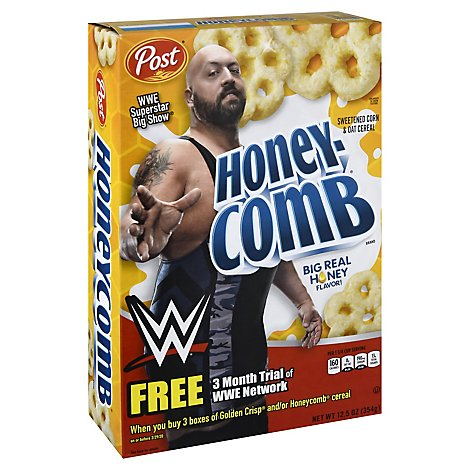 Post Honeycomb Cereal With Real Honey - 12.5 Oz