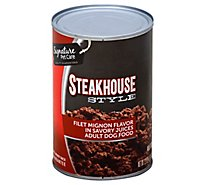 Signature Pet Care Dog Food Adult Steakhouse Style Filet Mignon Flavor Can - 22 Oz