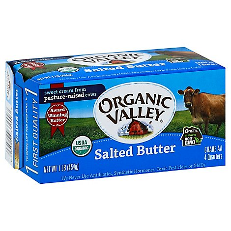 Organic Valley Butter Organic Salted - 1 Lb