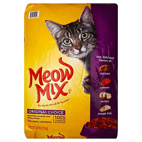 Meow Mix Cat Food Dry Original Choice - 16 Lb