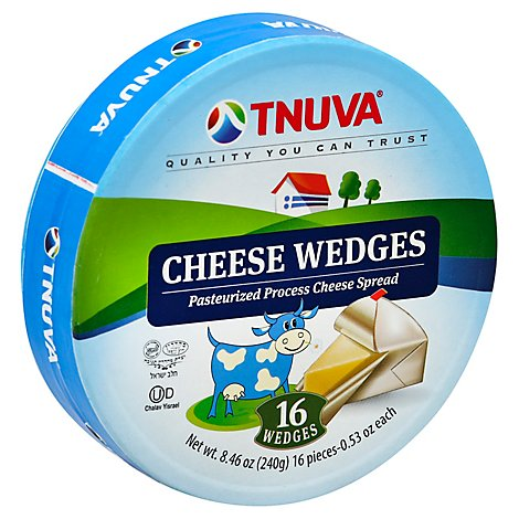 Tnuva Cheese Spread Pasteurized Process Wedges - 8.46 Oz