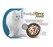 Fancy Feast Purely Cat Food Adult Entree Natural Tender Tongol Tuna In A Delicate Broth - 2 Oz