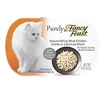 Fancy Feast Purely Cat Food Gourmet Natural White Meat Chicken Delicate Broth Pouch - 2 Oz