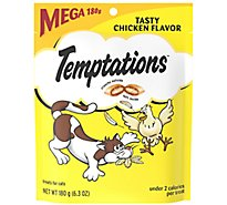 TEMPTATIONS Classic Cat Treats Crunchy And Soft Tasty Chicken Flavor - 6.3 Oz