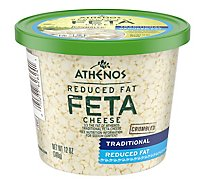 Athenos Cheese Feta Crumbled Reduced Fat - 12 Oz