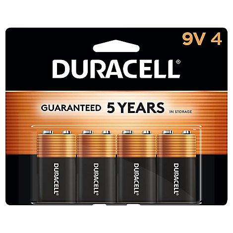 Duracell Coppertop Battery Alkaline 9V - 4 Count