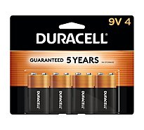 Duracell Batteries 9V Duralock - 4 Count